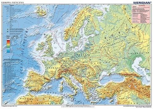 Europa Mapa Fizyczna Tablicaszkolna Pl