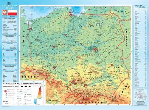 Polska Mapa Fizyczna 2018 Tablicaszkolna Pl