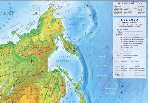Scienna Mapa Fizyczna Azja 2018 Tablicaszkolna Pl