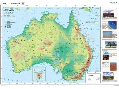 Scienna Mapa Fizyczna Australia Tablicaszkolna Pl