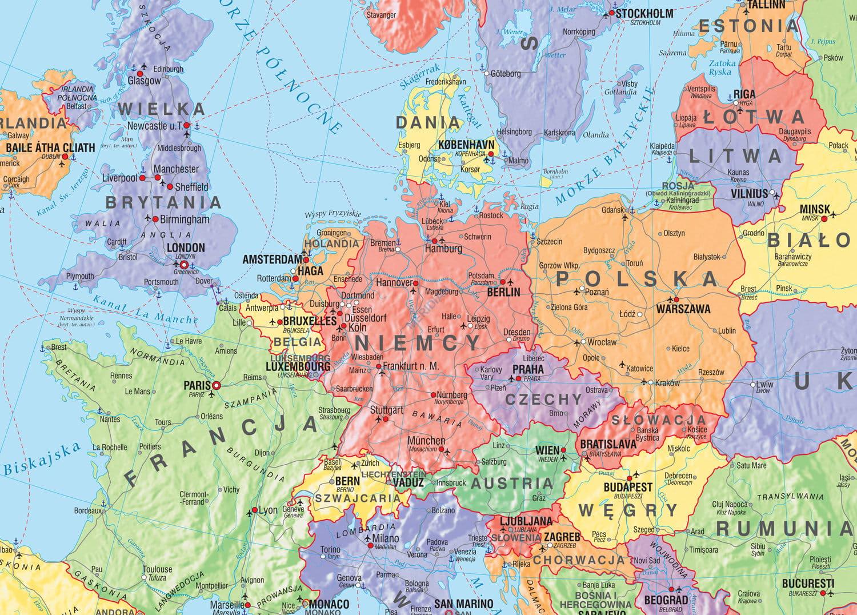 Europa Mapa Polityczna Stan Na 2019 Tablicaszkolna Pl